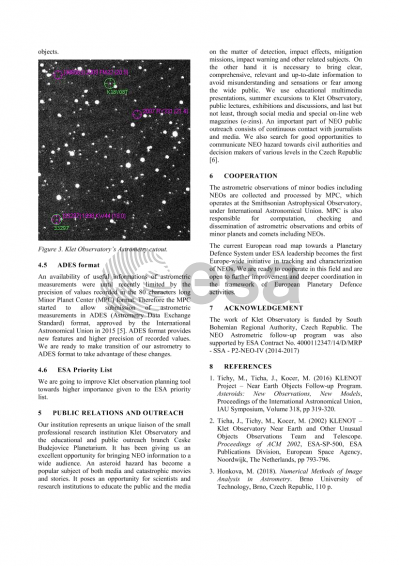 KLET OBSERVATORY PREPAREDNESS AND PLANS FOR PLANETARY